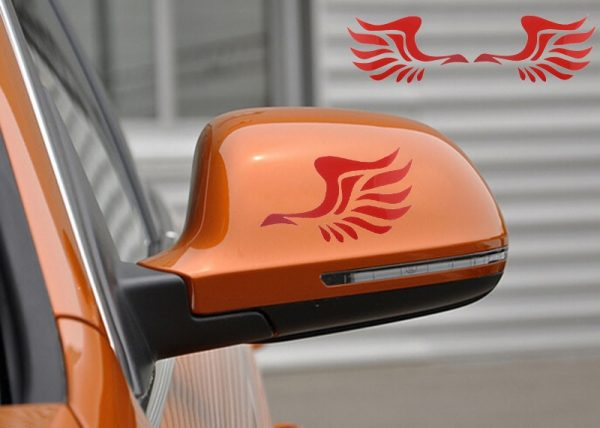Fashion Wing Design 3d Decoration Sticker For Car Side Mirror Rearview